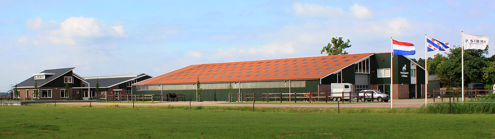Verkoop friese paarden en manege stal sibma in rottum for Manege te koop